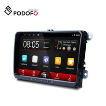 "Podofo Android 8.1 9"" Car Video 2Din Car Radio Autoradio For Volkswagen Skoda Golf Polo For Passat b7 b6 SEAT For Tiguan Radior"