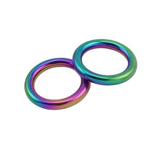 Nolvo World 16mm 18mm 25mm 30mm Parts Hardware Welded Rainbow Rings Solid Cast O Ring For Bag