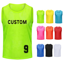 2020 Wholesale sublimated volleyball sports jersey basketball mesh bibs training vest sports vest