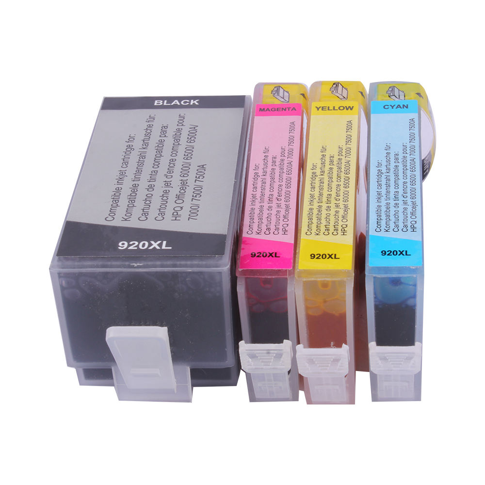 Printer Quality Full Pigment Compatible Refill HPQ920XL Ink Cartridge for HP officejet 6000 6500 6500A 7000 7500 7500A