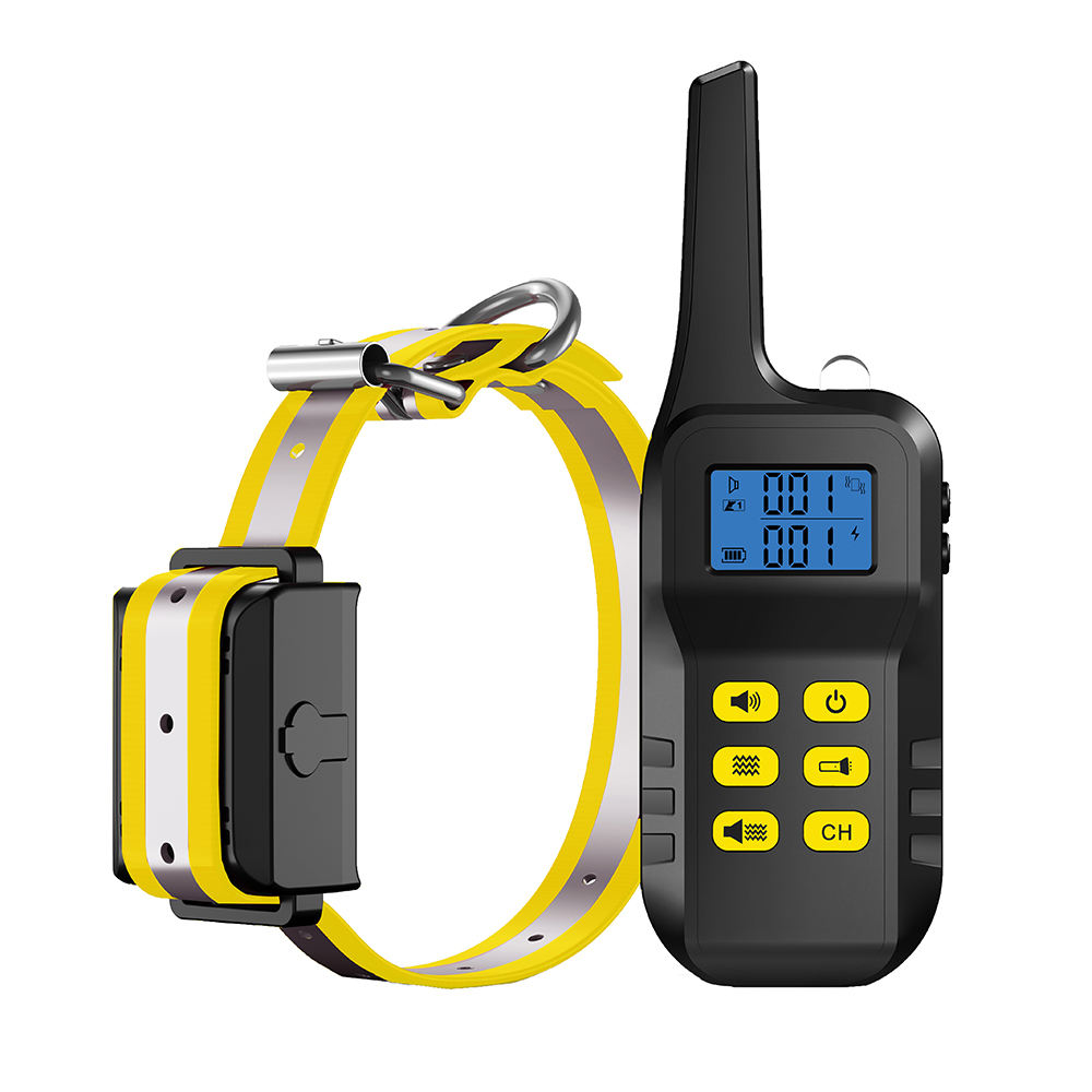 No Shock Training Collar Rechargeable LCD Remote Control Waterproof Anti Barking Training Collar