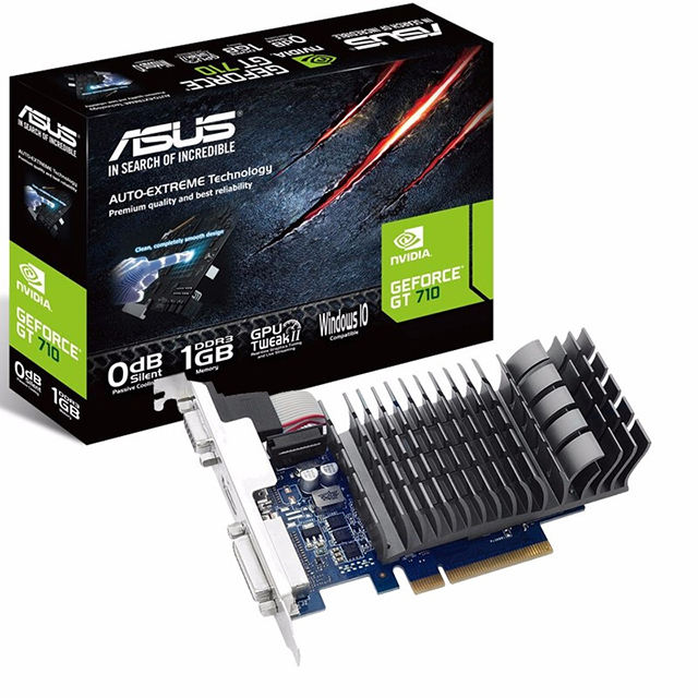 GT710-SL-2GD5-BRK home office independent semi-high graphics card GT710 2G knife card for ASUS