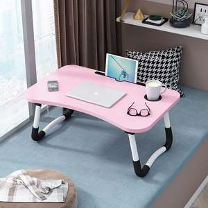 Portable Folding Notebook Laptop Bed Desk Laptop Bed Table with Phone/Pad Holder Foldable Legs Cup Slot for Eat Read on Bed