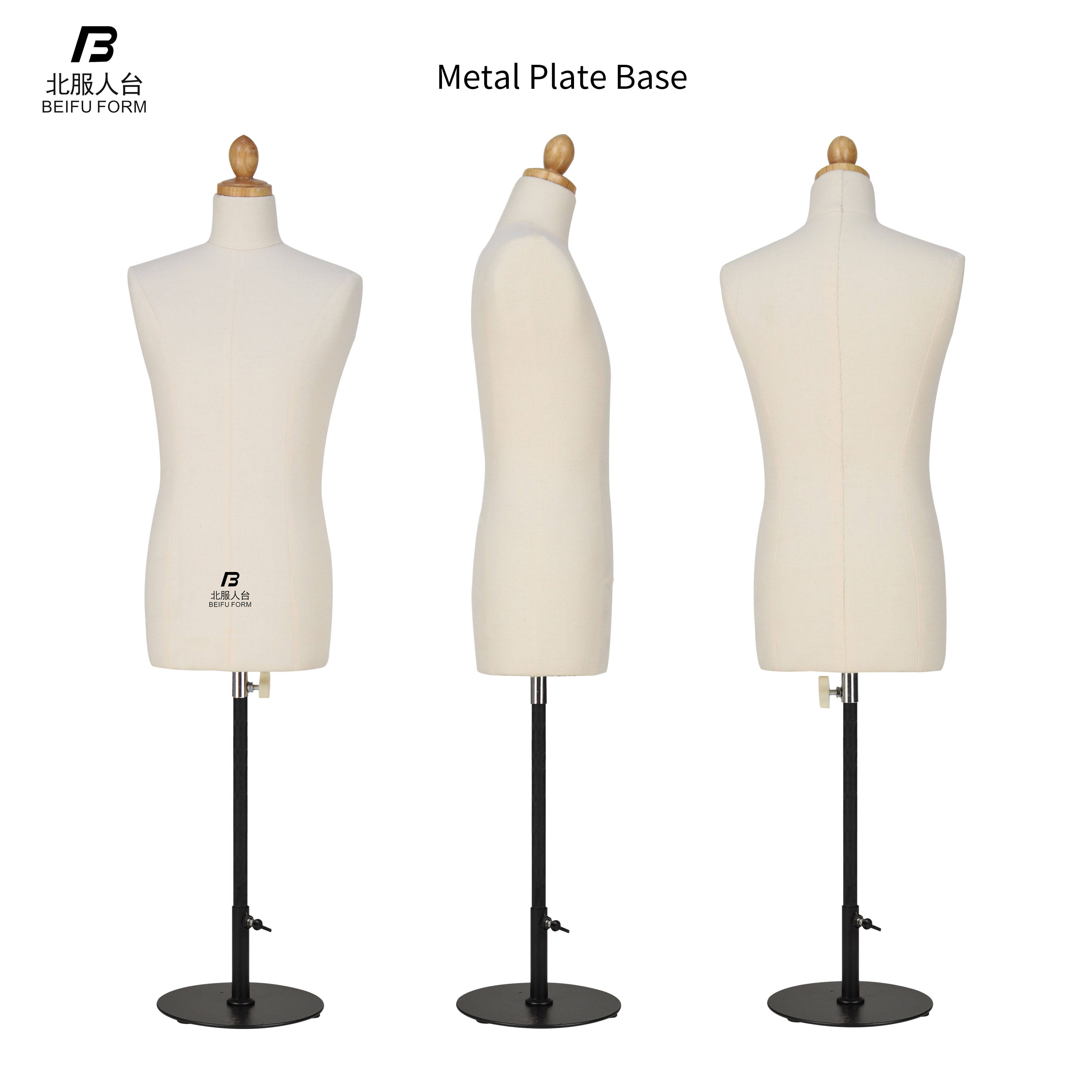 BEIFUFORM Male Dress Form for Dressmakers Men's Half Scale Mini Mannequin 1/2 Tailoring Dummy