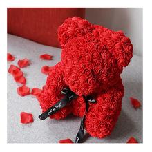 Artificial Flowers Rose Bear Multicolor Plastic Foam Teddy Bear valentines day decorations