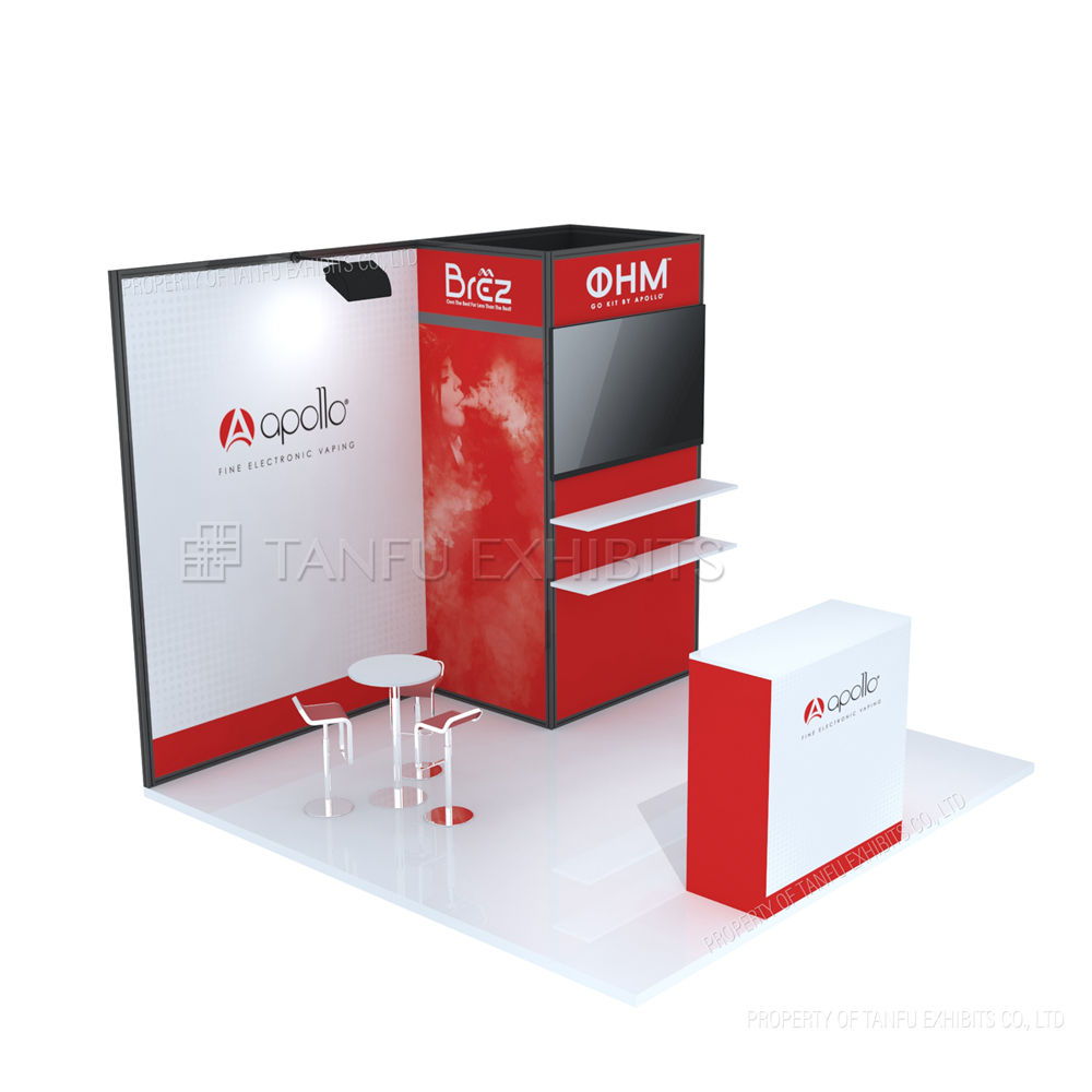 Portable Trade Show Displays 3x3 Exhibition Booth