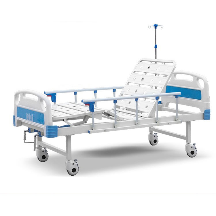 adjustable hospital double crank manual medical bed