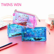 School supplies Large Capacity eco friendly waterproof pvc zipper pencil case bag pen pouch bags for students 1215