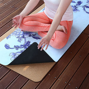 Soft Microfiber Surface 1mm Recycled Rubber Printing Eco-Friendly Decorative Oem Suede Yoga Mat