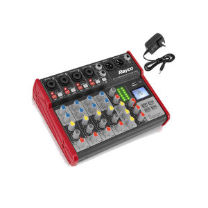 6 Channel Bluetooth Kompatibel Digital DJ Console W/USB Mixer Audio Antarmuka Pencampuran Papan untuk Studio Rekaman