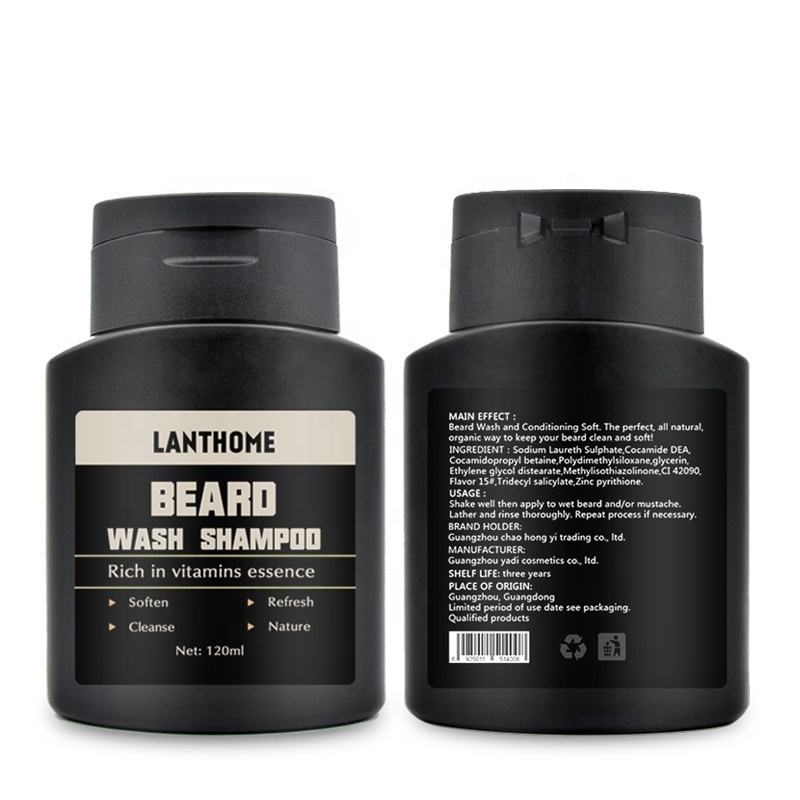 Dropship Private Label 2-in-1 Men Natural Beard Shampoo and Conditioner for Mustache Beard Wash