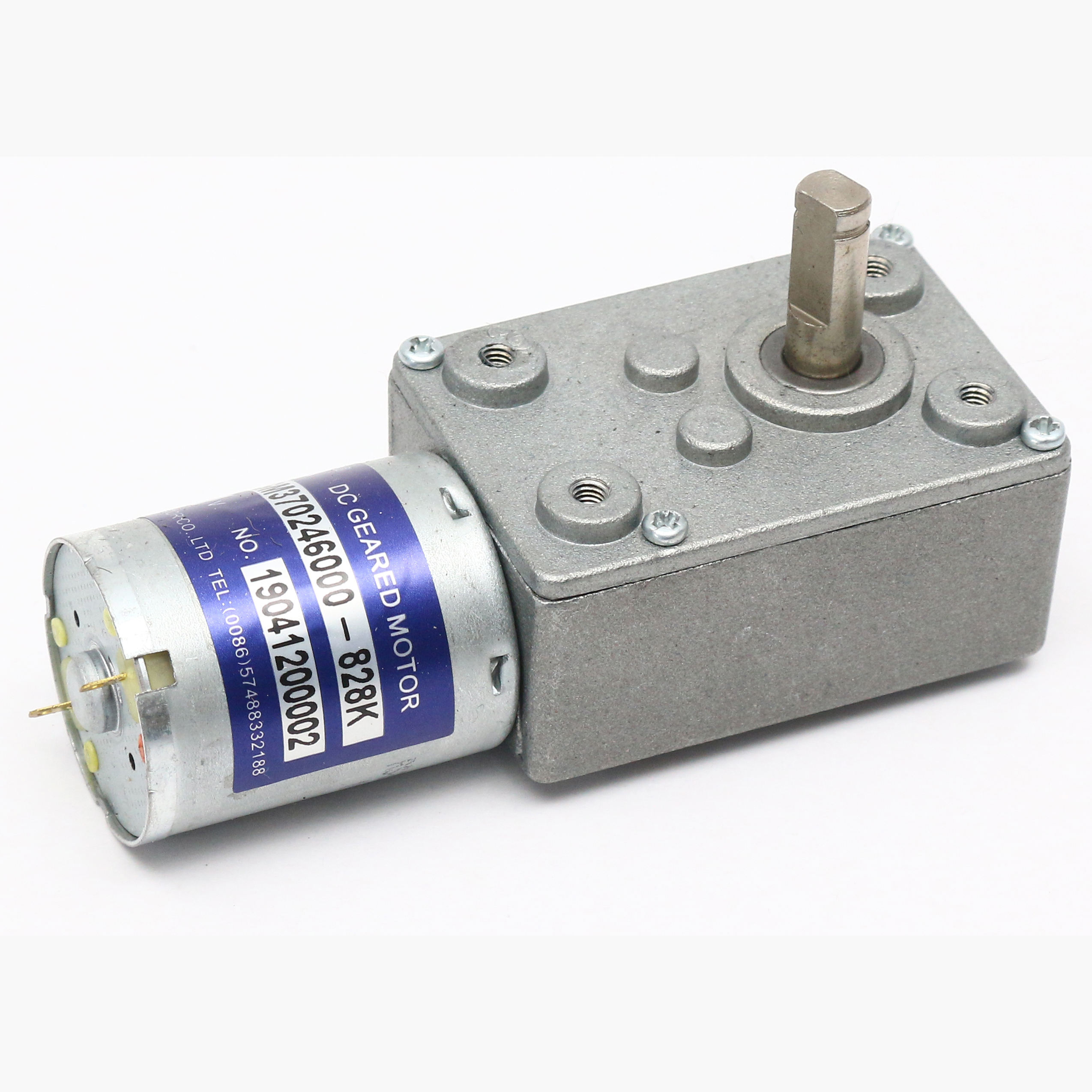 12V HIGH TORQUE LOW RPM DC WORM small gearbox