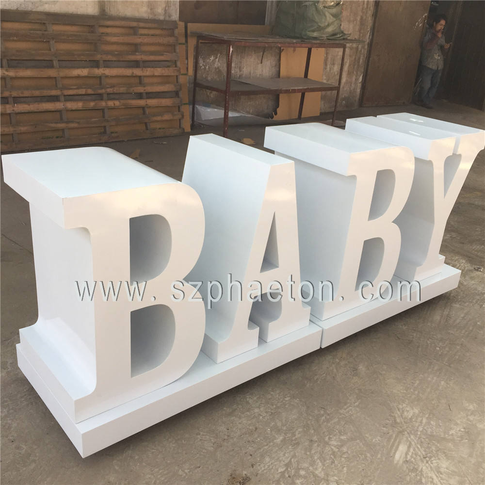 BABY letter table, wedding table for party supplies decorations