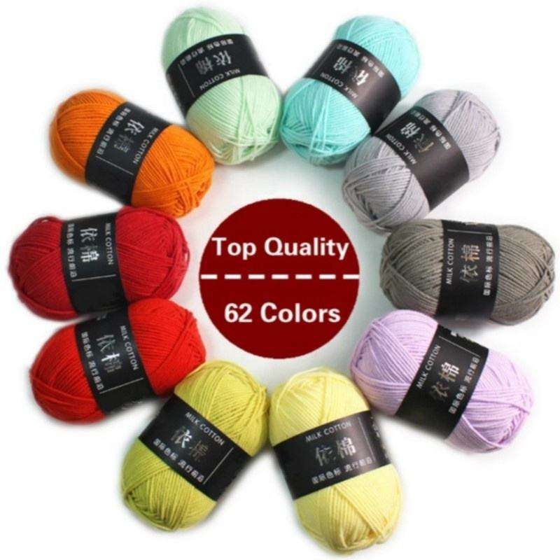 NEW 62 Colors Hand-Woven Milk Cotton Scarf Hat Sweater Crocheted Thick Wool Thread Anti-pilling Sewing & Knitting Supplies