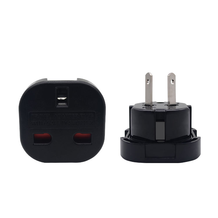UK/EU to USA/AUS travel plug adapter with safety shuter 10A-240V with CE certificate