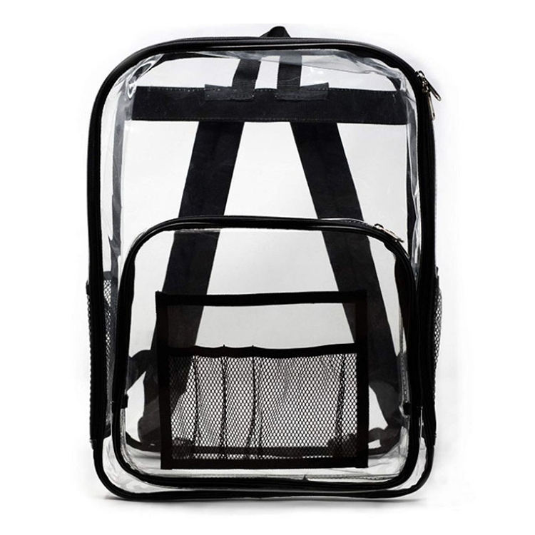 Waterproof pvc transparent bag school back pack colored mini clear backpack wholesale