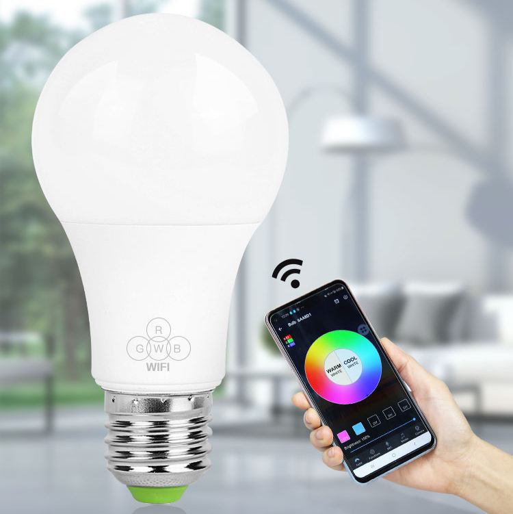 Pc Light Bulb Wifi Led Bulb 7w 7W 9W E27 Remote Colourful RGB Dimmable Alexa Bombilla Foco Inteligente Smart LED Light Bulb LED Bulb Light Wifi Led Smart Bulb