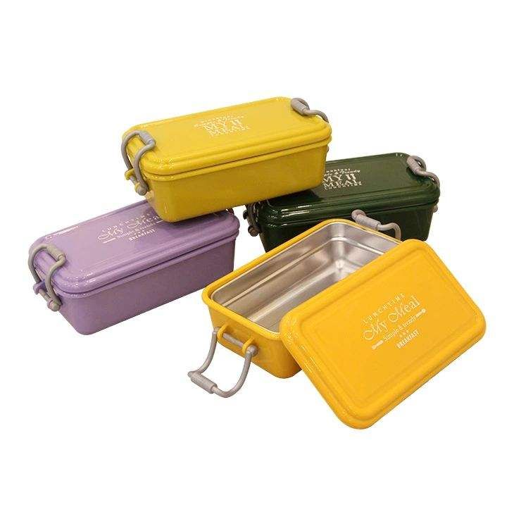 Food Grade 304 Stainless Steel Kids Lunch Box Leak Proof Silicone Ring Stainless Steel Bento Box
