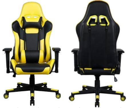 hot sale Modern Yellow PU back cushion 4D armrest gaming chair computer