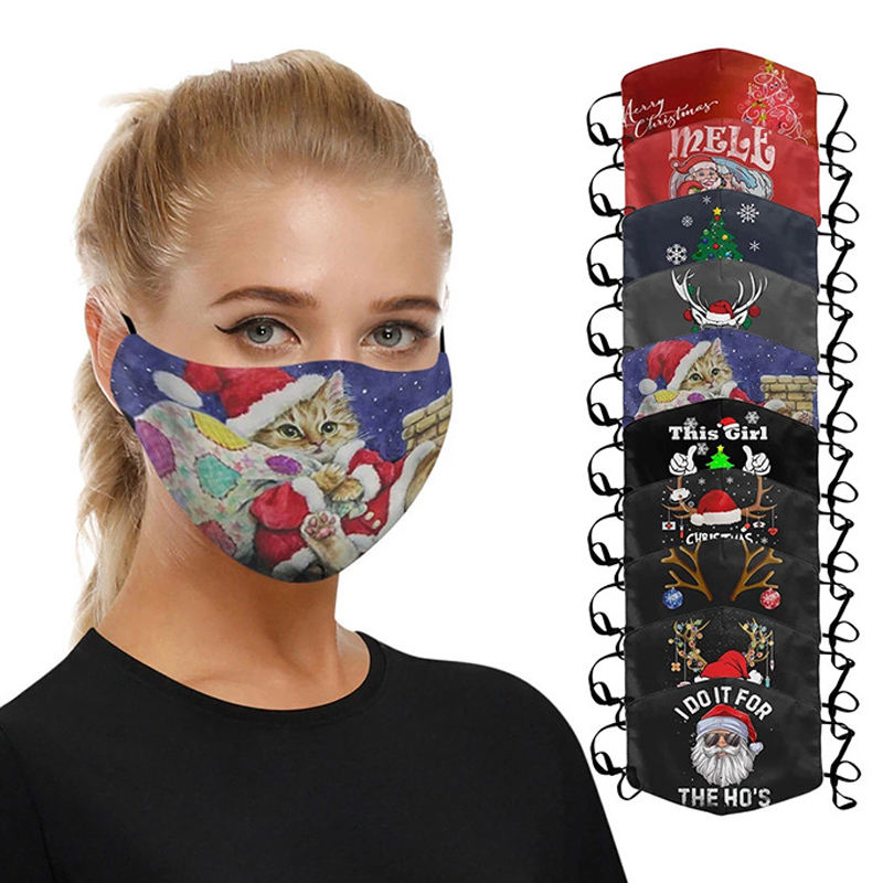 Quick Delivery High Quality Lovely Floral Cotton Polyester Anti Air Pollution Pm2.5 Dust Face Maskes