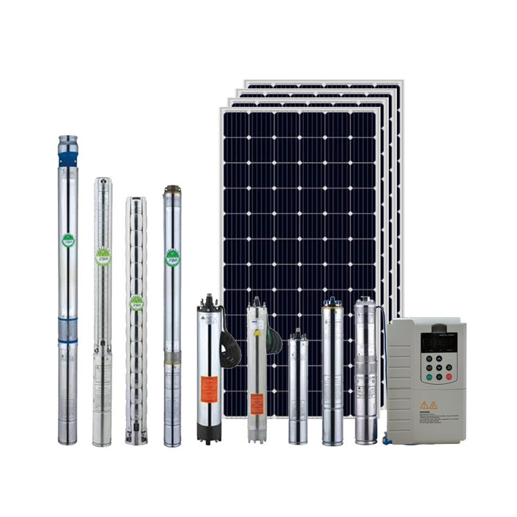 3000w Solar Water Pump System 4HP Solar Submersible Pump with Inverter