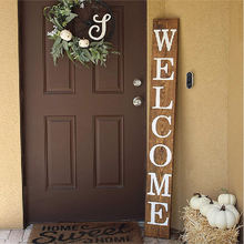 Home Decor Wood 5 feet Tall Large Rustic Wooden Welcome Sign