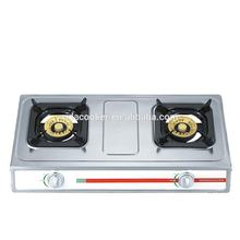 powerful cast iron burner brass burner cap square grill counter top stand 2 burner gas stove top cooker