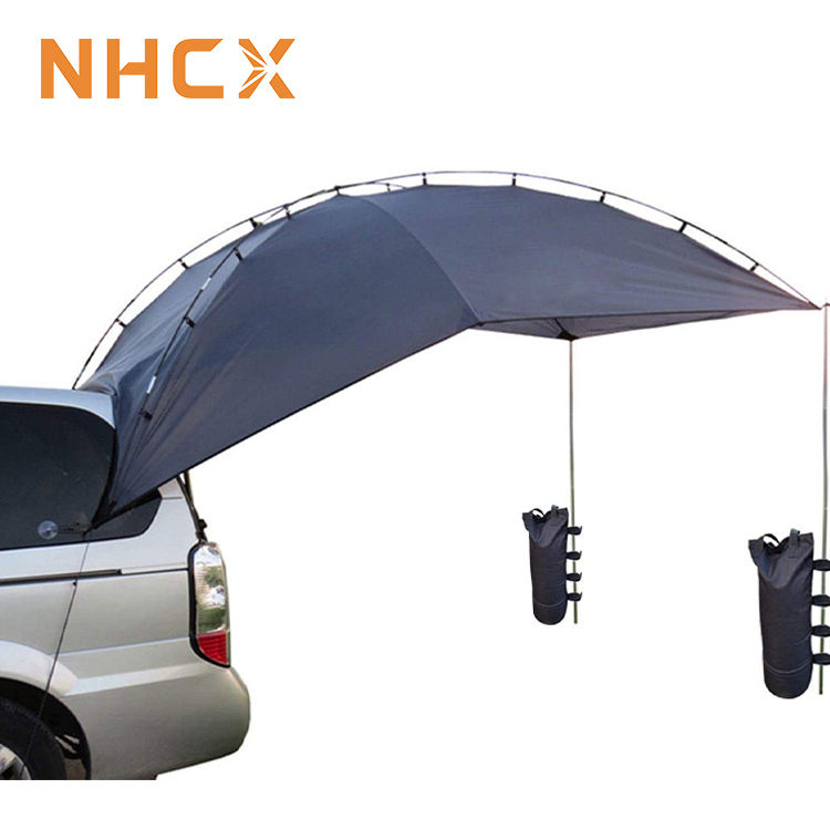 Nhcx <span class=keywords><strong>Outdoor</strong></span> Leisure Car Rear Tent Waterdichte Opvouwbare Camping Suv Auto Luifel Tent
