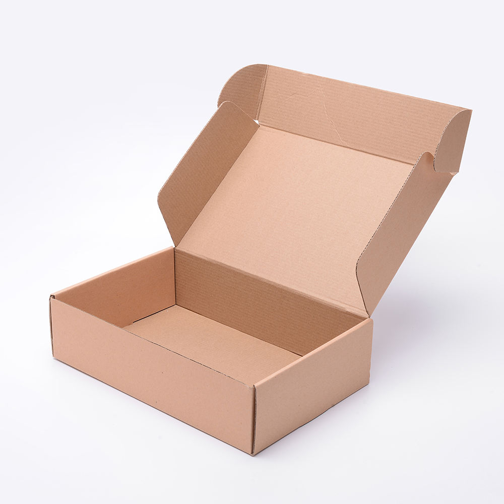 Custom Printed Clothing Shoes Recycled Folding Gift Brown Kraft Paper Corrugated Packaging Box