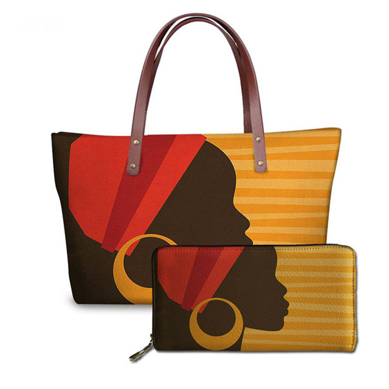 Black Art African Girl Printing famous wall spade lugery tignanello cage single hot kiss handbag for women