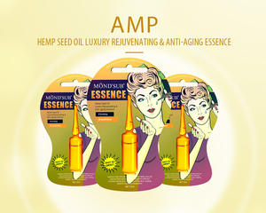 Mond'sub AMP hemp seed oil luxury multieffect cosmotic nutrition hydrating face serum nature facial essence