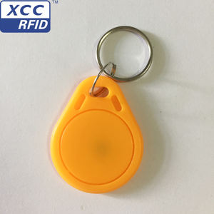 Access control card 125khz RFID TK4100 Key Fobs/ key Tags Keychain manufacturer in China