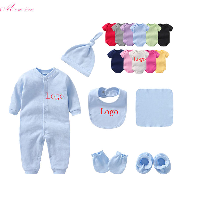 OEM service manufacture baby newborn clothes onesie white 100% cotton custom printed plain baby romper