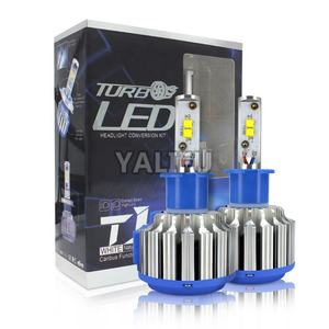 Hot sale T1 LED Headlight bulbs H1/H3/H7/H4/9003/9007/H13 crees chip 4000lm 6000K 6500K for car LED headlamp