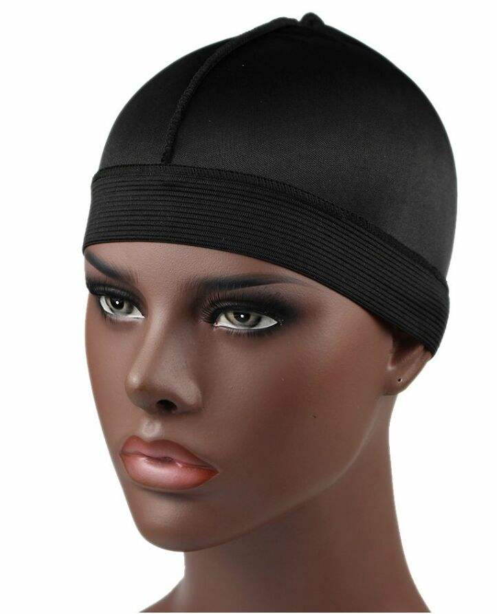 Fashion Men Silky Wave Cap with Elastic Band Silk Durag Bandanas For Men