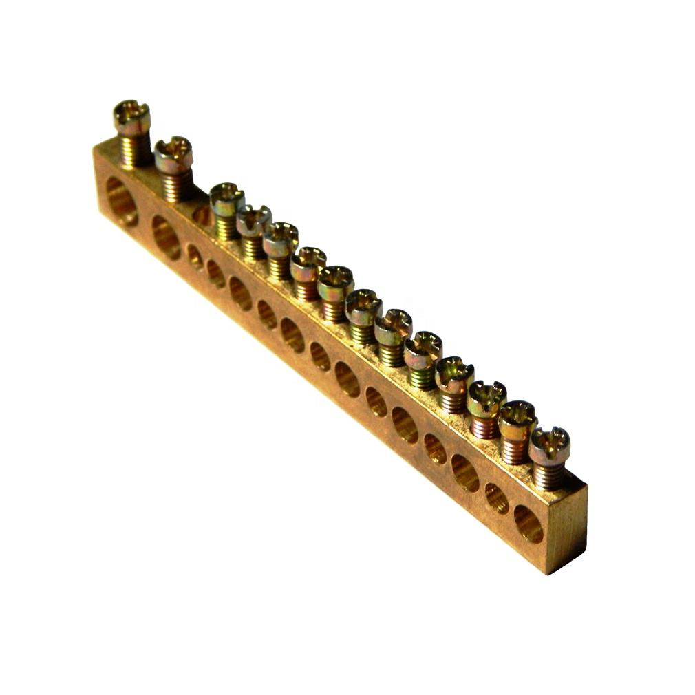 OEM & ODM PCB Screw Connecting Brass Terminal Block Neutral Link Connector at low price ready to ship product