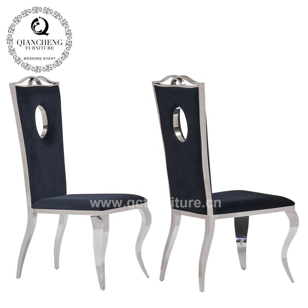 dining room furniture high back black pu dining chair leather modern
