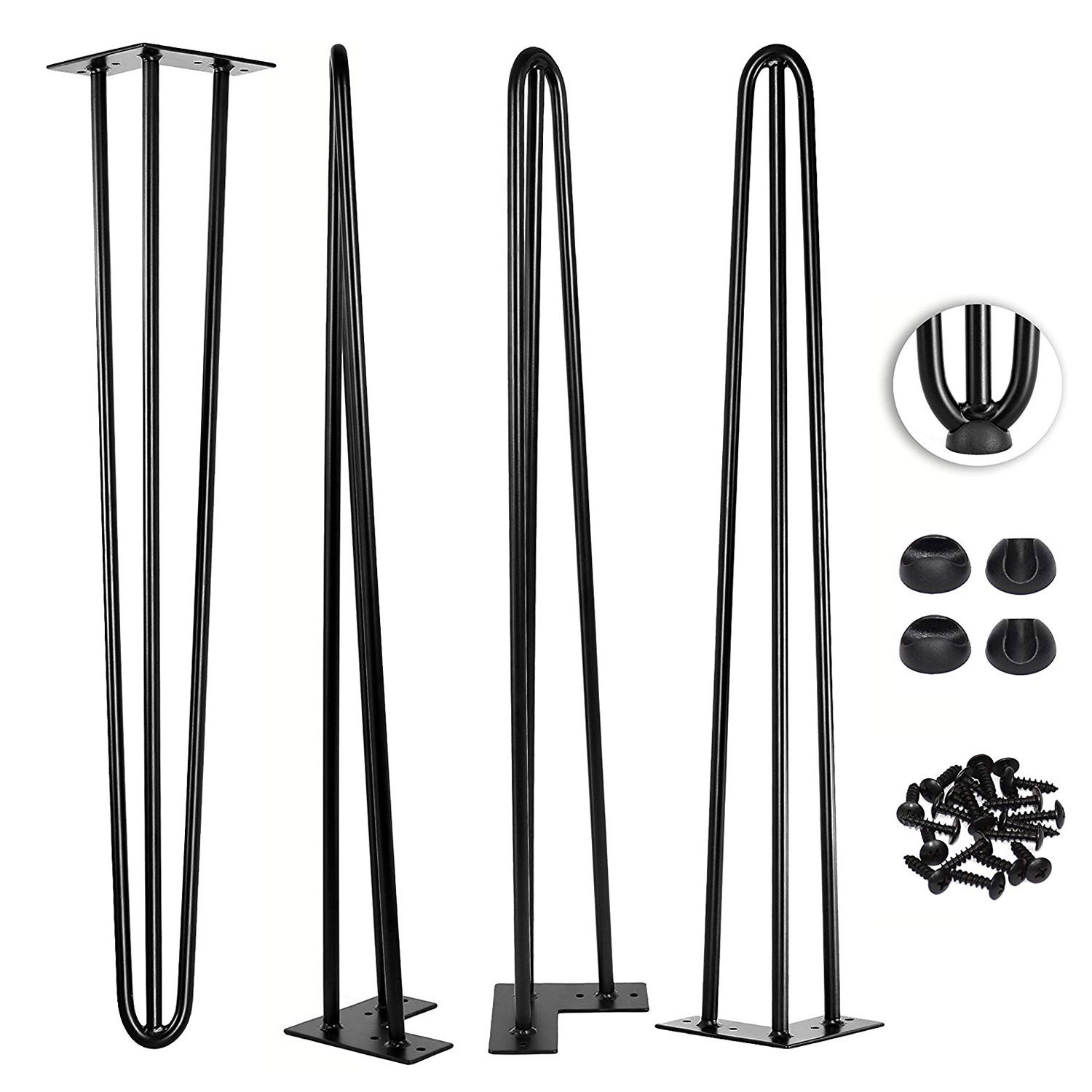 Hairpin Legs Wholesale Cheap Round U V Iron Steel Restaurant Desk Feet Metal Bench Coffee Dining Furniture Table Hairpin Legs