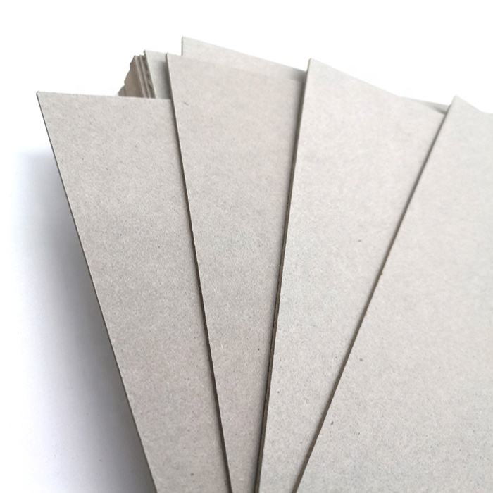 Recycled compressed laminated 1mm grey cardboard sheet gsm