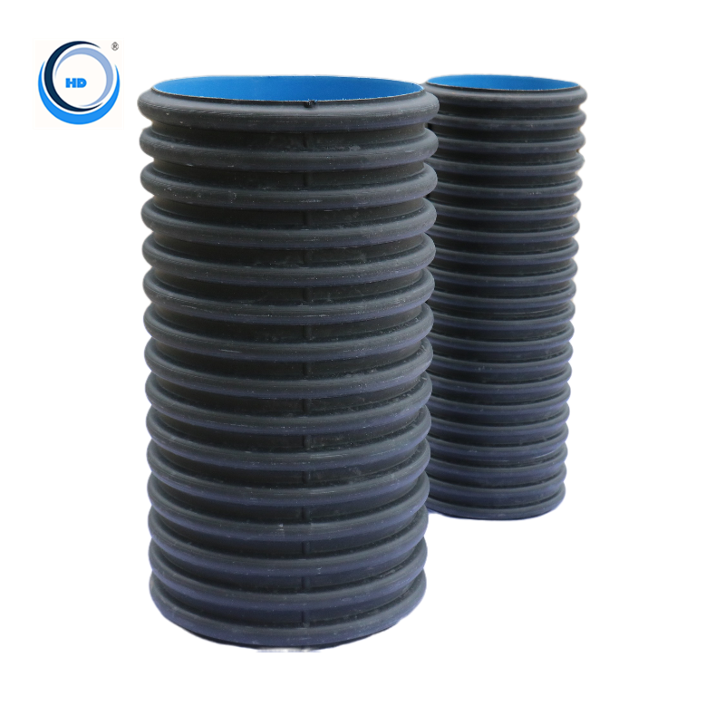 600mm high-density double wall corrugated dwc polyethylene hdpe pipe for sale