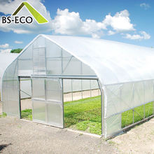 Very Cheap PO Film Single Span Greenhouse For Agriculture Easy Installation