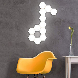 Updated 6pcs Honeycomb Quantum Lamp Smart Modular Sensor Diy Geometric Colorful Wall Led Modular Night Hexagon Touch Light