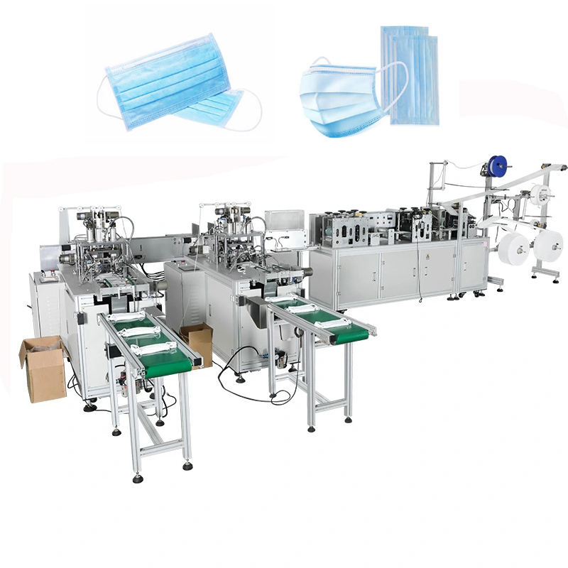 Fully Automatic 3ply nonwoven disposable surgical medical dust face mask making machine