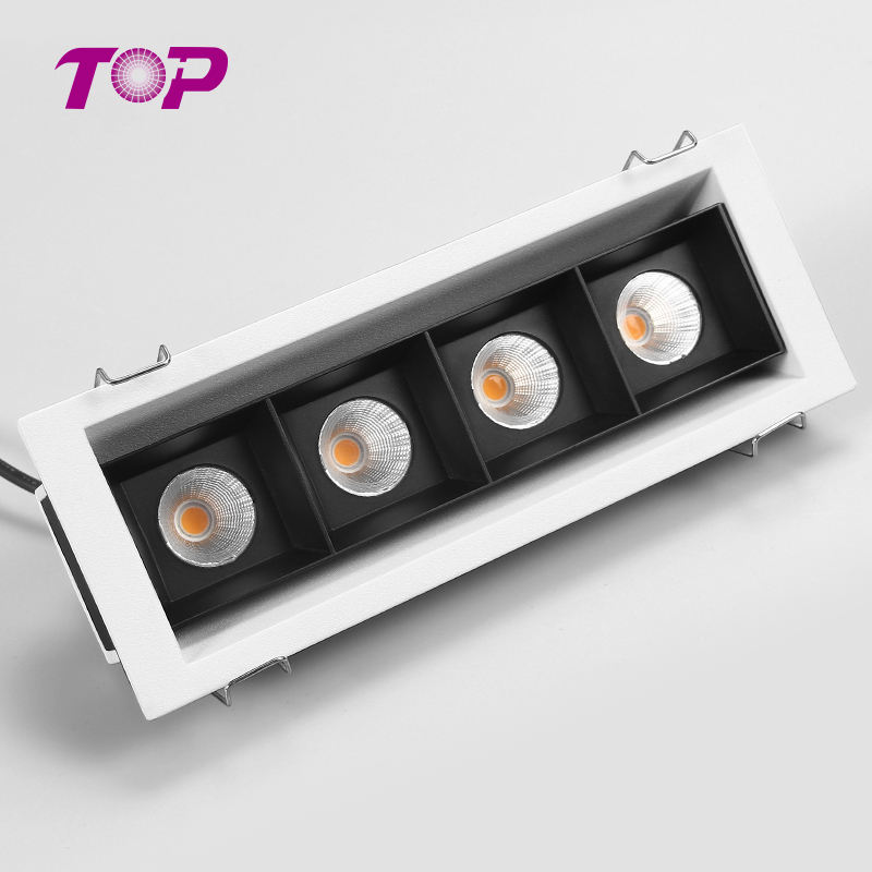 Factory suppliers 20w aluminum cob led grille light fixture wide beam angle available grille lamp