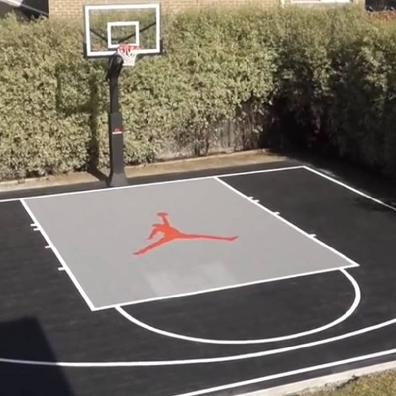 Outdoor [ Basketball Flooring ] Basketball Outdoor Basketball Flooring Antislip Customize Logo 24'X26' 624pcs Outdoor Interlocking Basketball Court Flooring