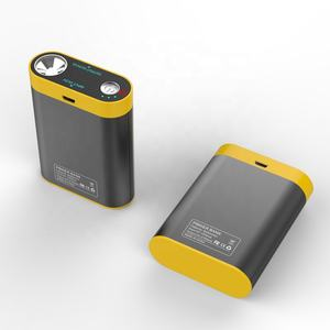 6600mAh Hand Warmer Power Bank  USB Hand Warmer with LED Torch  Rechargeable Hand Warmer