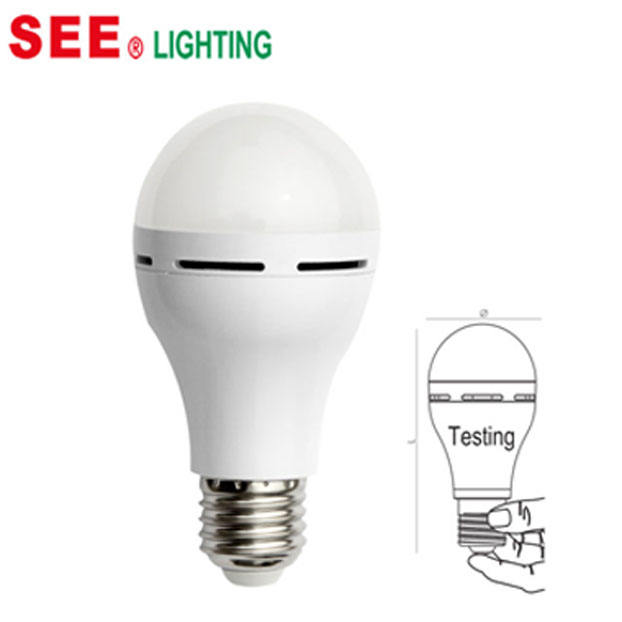 LED Light Rechargeable Emergency Bulb Built In Battery