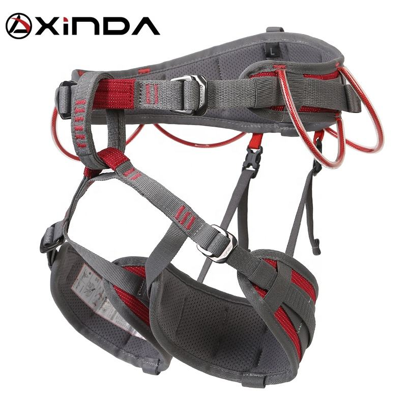 XINDA fashion comfortable half body rock climbing harness for climbing caving canyoning
