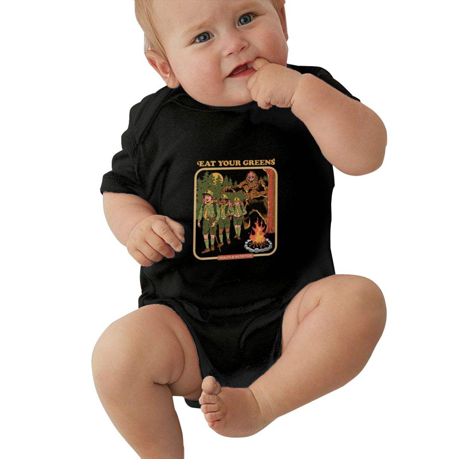 2021 Luxury Baby Boys Girls Rompers Eat Your Greens Demon Anime Manga Horror Movie TV Friends Ropa pour newborn bodysuit set bod