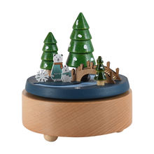 cheerfullus Wooden Music Box Desk Toy Decoration Birthday Present Christmas Gift song for Kids
